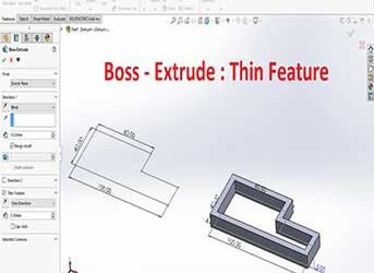 Boss Extrude: Thin feature